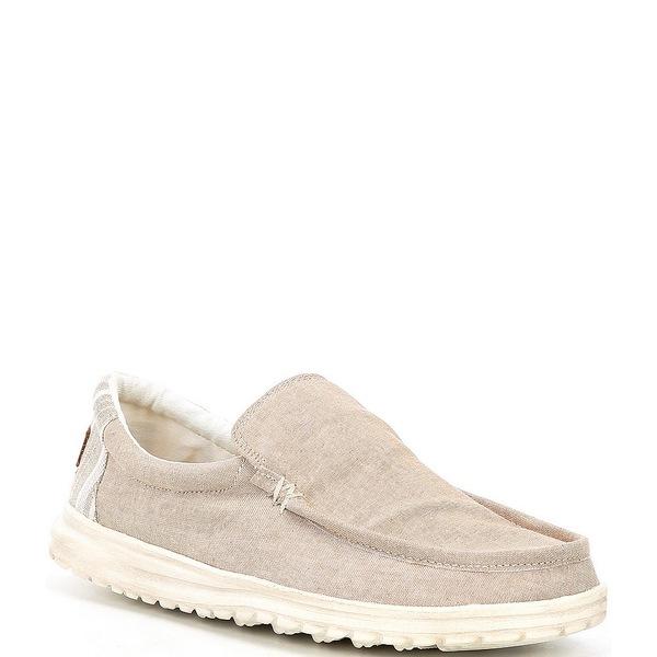ヘイデュード メンズ スニーカー シューズ Men's Mikka Chambray Shoes Beige