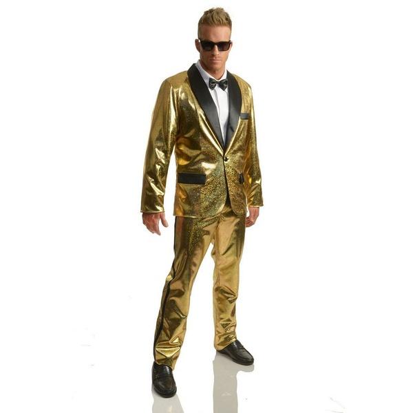 海外並行輸入正規品 バイシーズンズ メンズ カジュアルパンツ ボトムス Men&39;s Disco Ball Gold Tuxedo Set With Pants Gold, ナカムラストアー 604c8dae