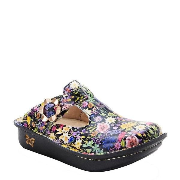 アレグリア レディース サンダル シューズ Classic Floral Print Leather Clogs Cultivate