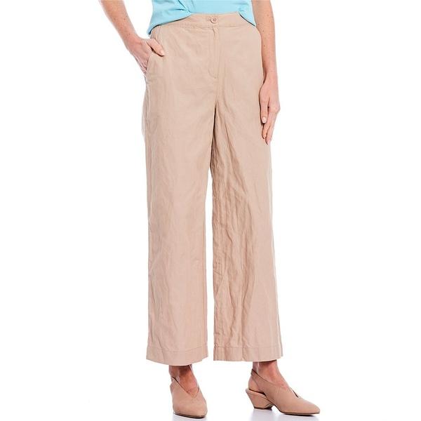 エイリーンフィッシャー レディース カジュアルパンツ ボトムス Organic Cotton Steel Wide Leg Ankle Pant Bramble