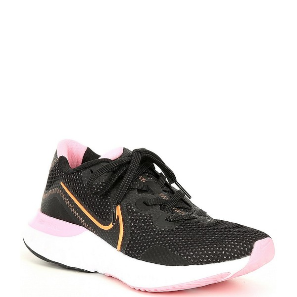 ナイキ レディース スニーカー シューズ Women's Renew Run Running Shoes Black/White/Pink/Orange Pulse