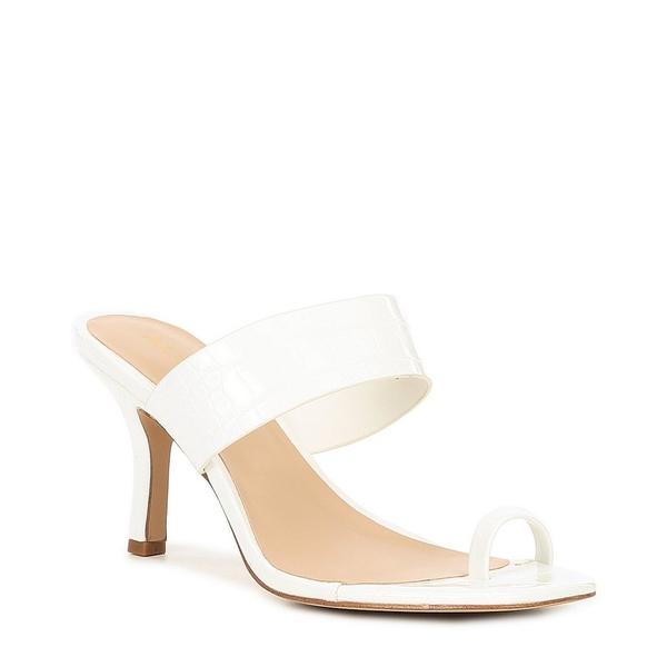 アルド レディース サンダル シューズ Oxana Croc Embossed Banded Square Toe Sandals White