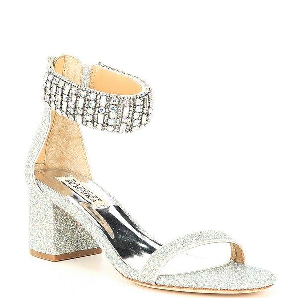 バッジェリーミシュカ レディース サンダル シューズ Gallia Embellished Glitter Dress Sandals Silver