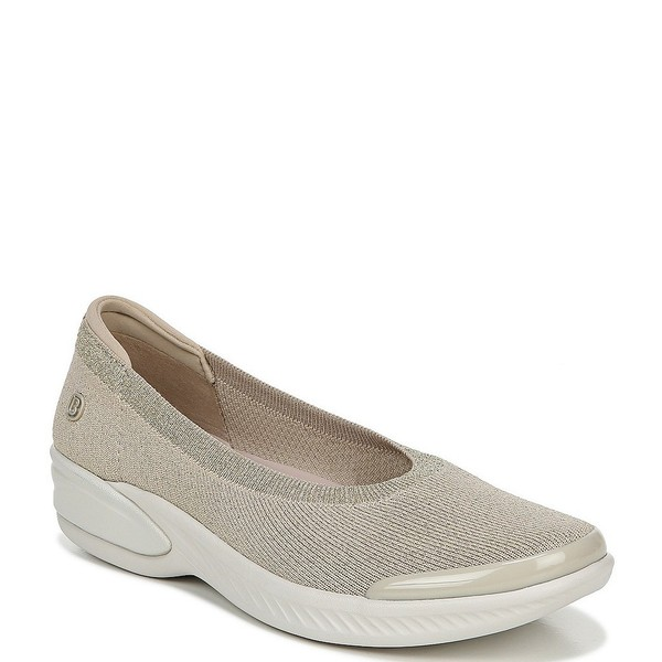 ビジーズ レディース スニーカー シューズ Nutmeg Metallic Knit Slip-On Flats Simply Taupe