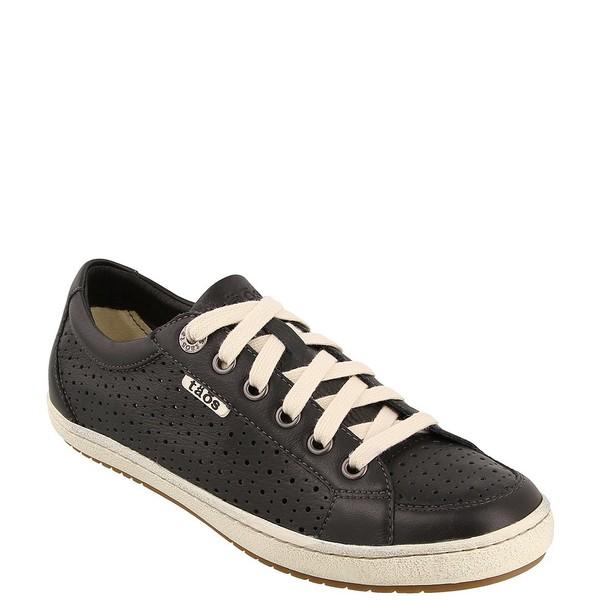 タオスフットウェア レディース スニーカー シューズ Jester Perforated Leather Sneakers Black