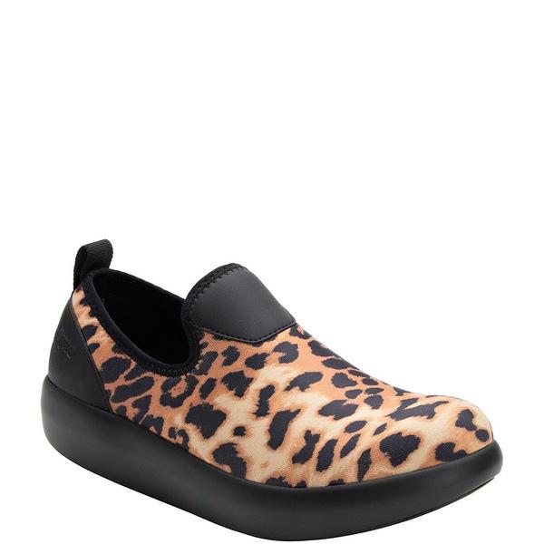 アレグリア レディース スニーカー シューズ Eden Leopard Print Stretch Slip Ons Leopard
