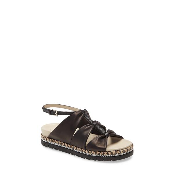アマルフィーバイランゴーニ レディース サンダル シューズ Brent Sandal Black Parmasoft Leather