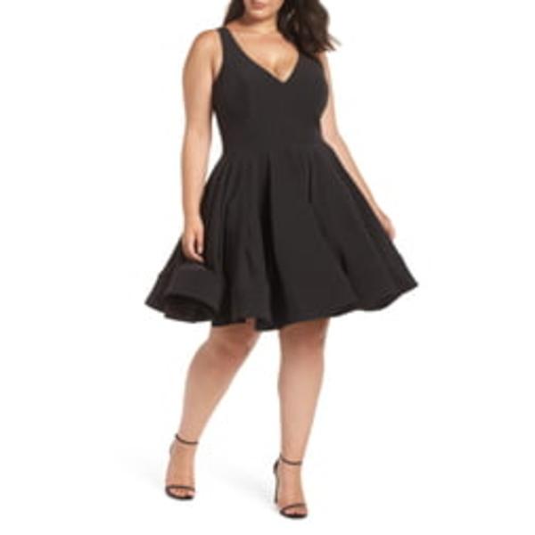 マックダガル レディース ワンピース トップス Fit & Flare Party Dress Black