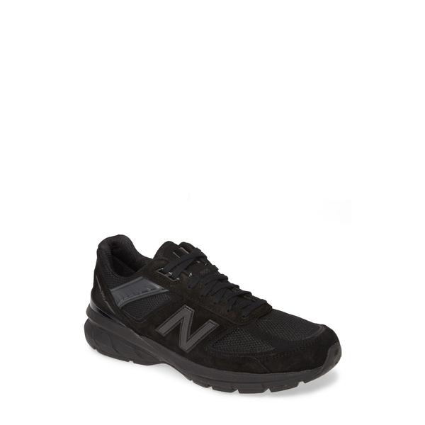 ニューバランス メンズ スニーカー シューズ 990v5 Made in US Running Shoe Black