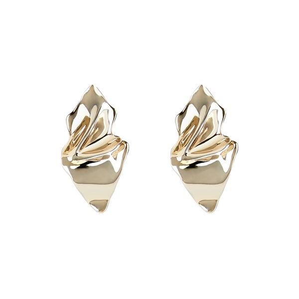 アレクシス ビッター レディース ピアス&イヤリング アクセサリー Crumpled Metal Earrings Gold