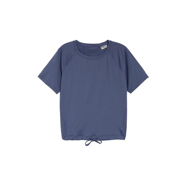 ゼラ レディース Tシャツ トップス Square Up Boxy Tee Blue Shadow