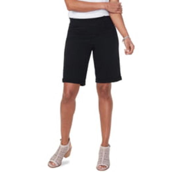 エヌワイディージェイ レディース カジュアルパンツ ボトムス Roll Cuff Pull-On Denim Shorts Black