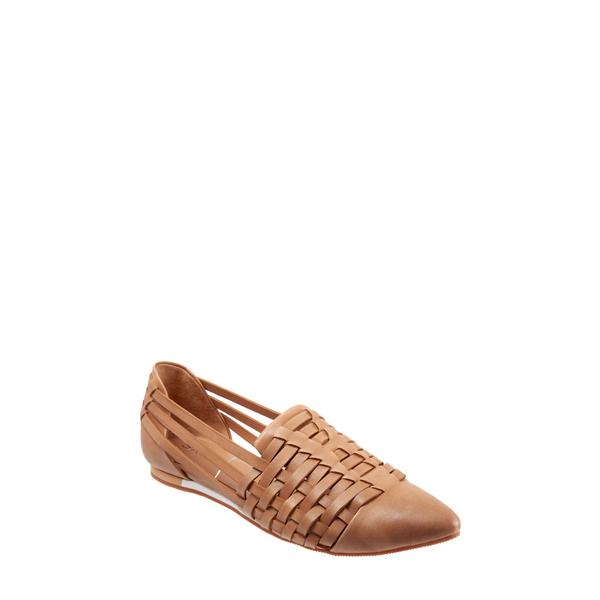 セーブ レディース サンダル シューズ Lola Flat Tan Leather