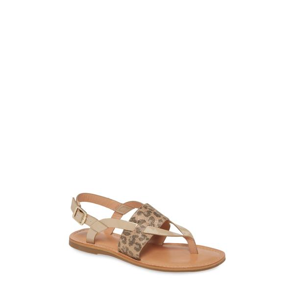 ジョンストンアンドマーフィー レディース サンダル シューズ Breann Thong Sandal Gold Leopard Leather