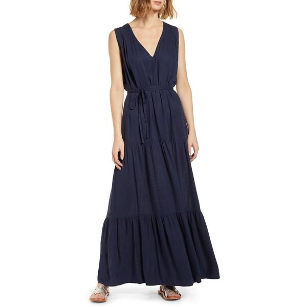 スプレンディット レディース ワンピース トップス Rosemary Maxi Dress Navy