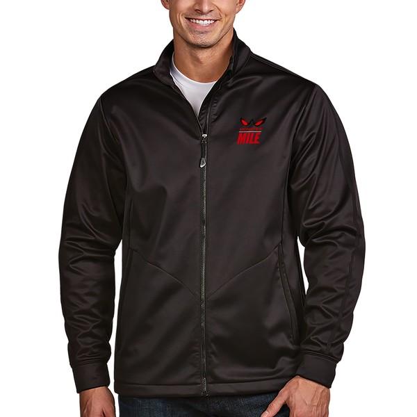 アンティグア メンズ ジャケット&ブルゾン アウター Dover International Speedway Antigua Miles Eyes Golf Full Zip Jacket Black