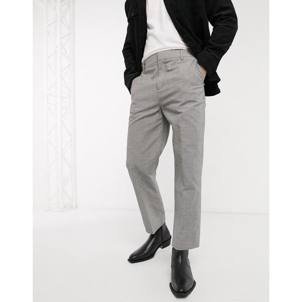 ウィークデイ メンズ カジュアルパンツ ボトムス Weekday Tucker Checked Pants in Gray Black