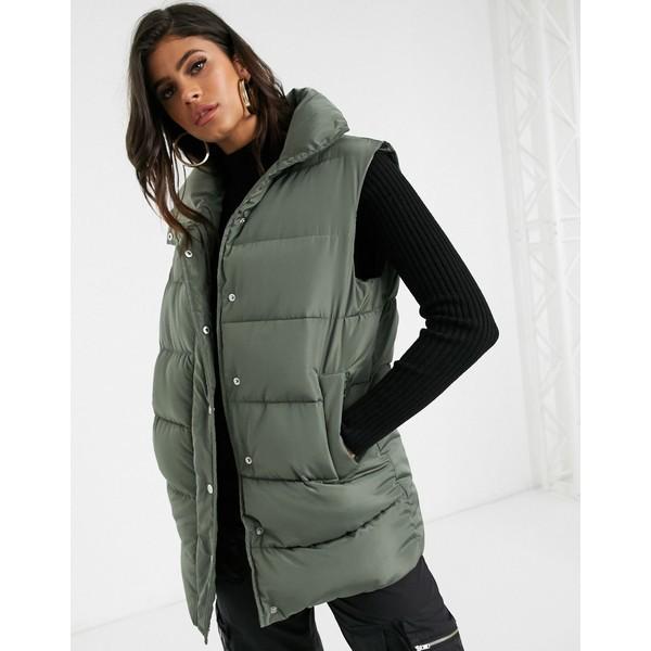 エイソス レディース コート アウター ASOS DESIGN padded vest jacket in green Green