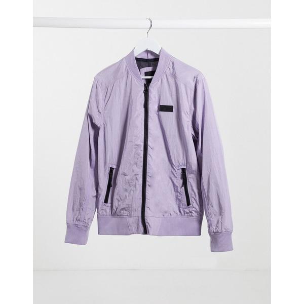 リバーアイランド メンズ ジャケット&ブルゾン アウター River Island bomber in lilac Lilac
