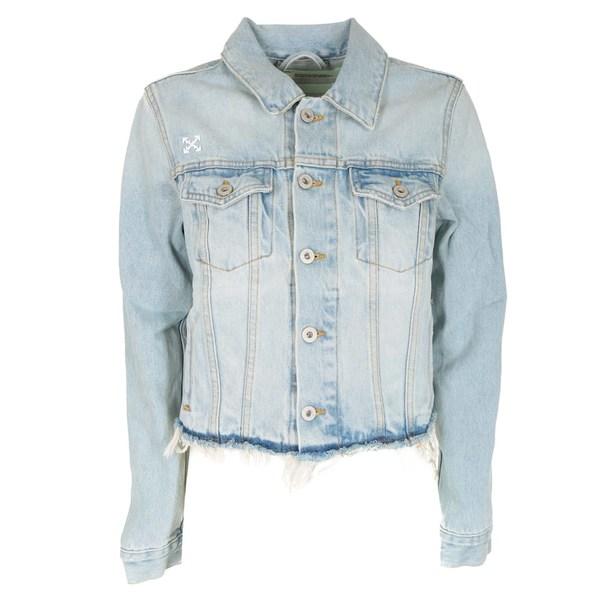 オフホワイト レディース ジャケット&ブルゾン アウター Off-White Cropped Denim Jacket -