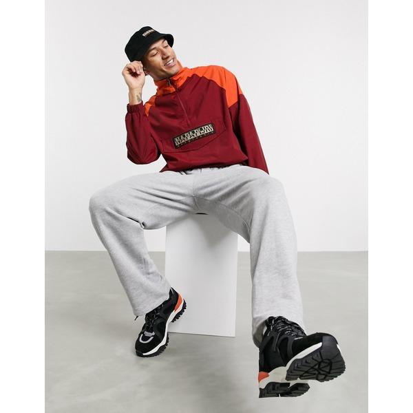 ナパピリ メンズ ジャケット&ブルゾン アウター Napapijri Astros CB pullover jacket in burgundy Cherry bordeaux