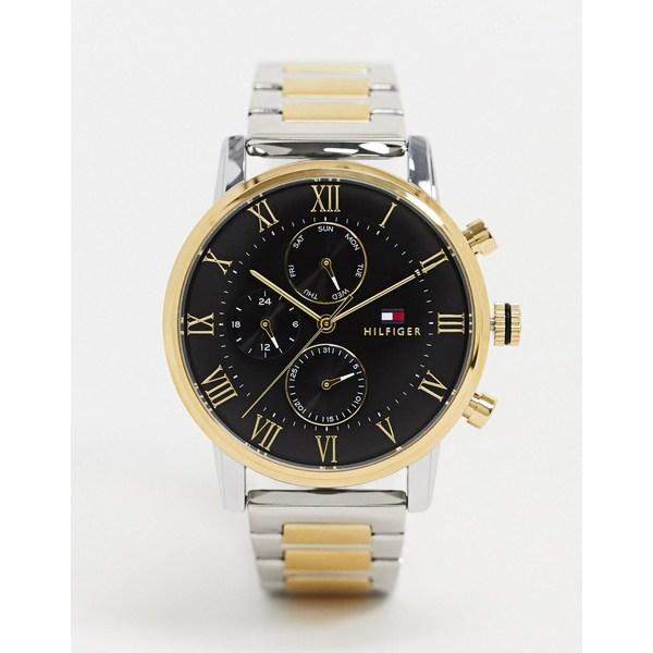 トミー ヒルフィガー レディース 腕時計 アクセサリー Tommy Hilfiger 1791539 contrast gold and silver watch Silver