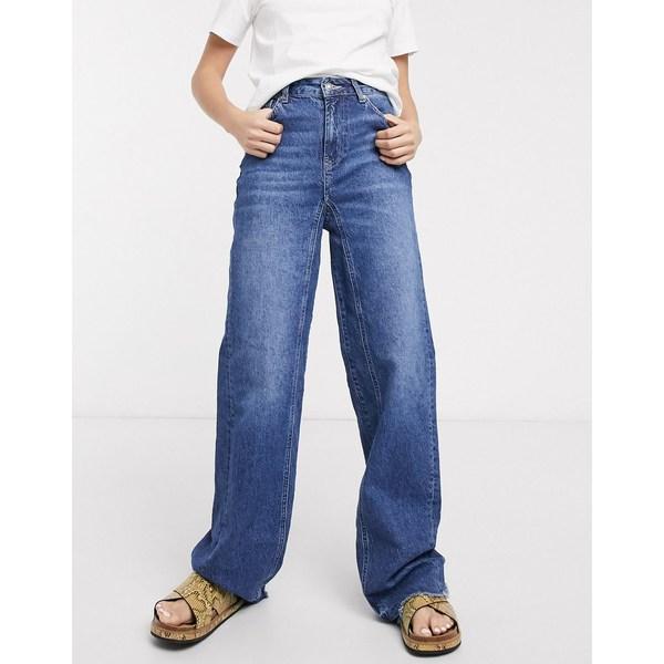 フリーピープル レディース デニムパンツ ボトムス Free People relaxed straight slouch jeans Indigo blue