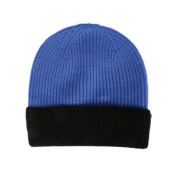 スポーツマックス レディース 帽子 アクセサリー Sportmax Two Tone Beanie BlueBlack
