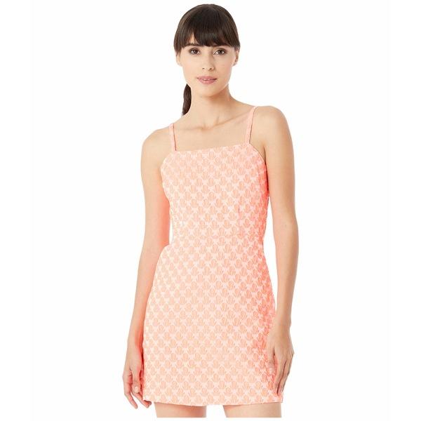 ミリー レディース ワンピース トップス Floral Cloque Bernadene Dress Neon Melon