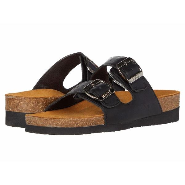 ナオト レディース サンダル シューズ Santa Barbara Soft Black Leather