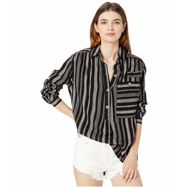 フリーピープル レディース シャツ トップス Summer Breeze Stripe Black