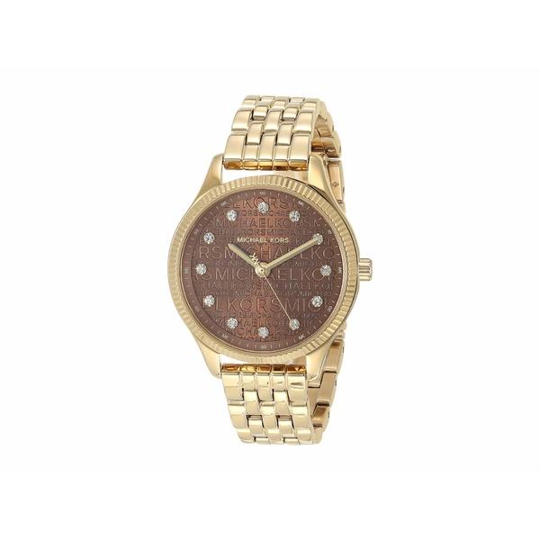 マイケルコース レディース 腕時計 アクセサリー Lexington Three-Hand Stainless Steel Watch Gold