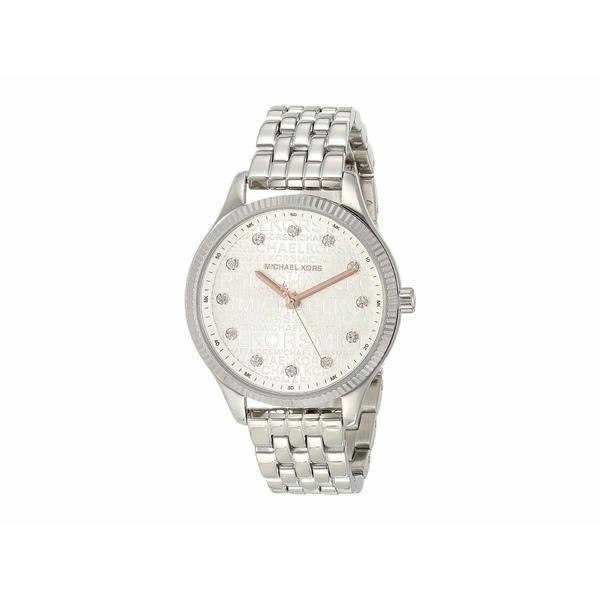 マイケルコース レディース 腕時計 アクセサリー Lexington Three-Hand Stainless Steel Watch Silver