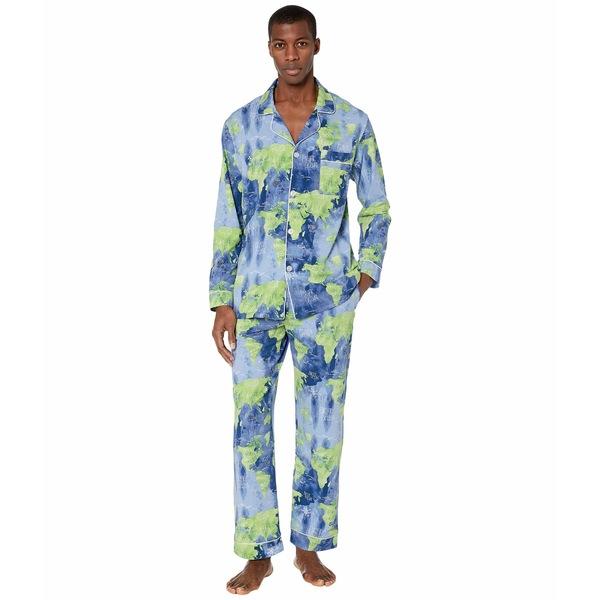 ベッドヘッドパジャマ メンズ ナイトウェア アンダーウェア Long Sleeve Classic Pajama Set Mother Earth