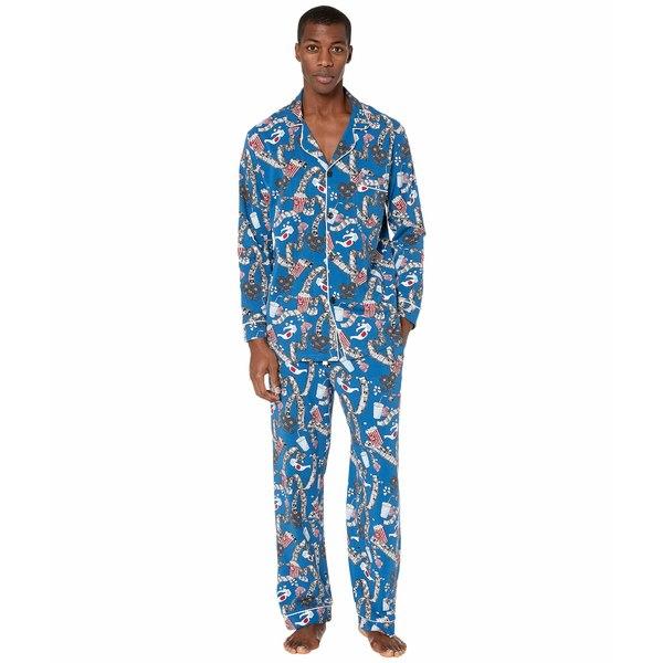 ベッドヘッドパジャマ メンズ ナイトウェア アンダーウェア Long Sleeve Classic Pajama Set Movie Night