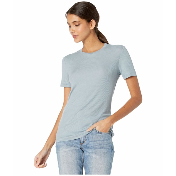 エージー アドリアーノゴールドシュミット レディース シャツ トップス Gray Boy T-Shirt Powder Sky