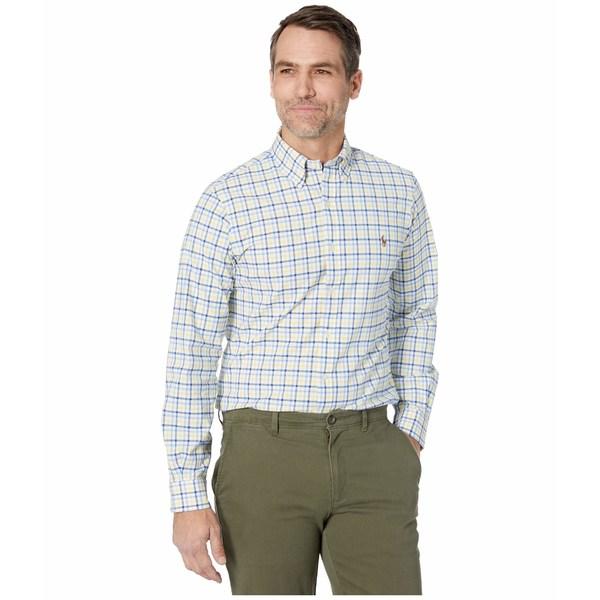 ラルフローレン メンズ シャツ トップス Slim Fit Stretch Oxford Shirt Yellow/Navy Multi