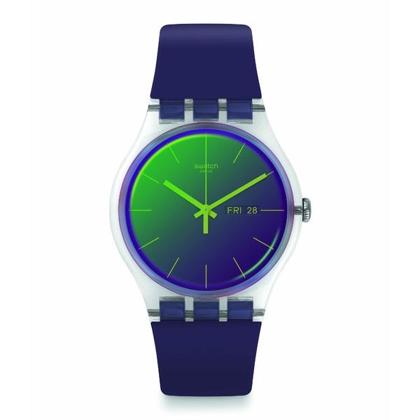 スワッチ メンズ 腕時計 アクセサリー Polapurple - SUOK712 Purple