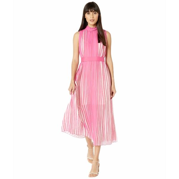 ビーシービージーマックスアズリア レディース ワンピース トップス Rainbow Pleated Midi Dress Ibis Rose/Watercolor