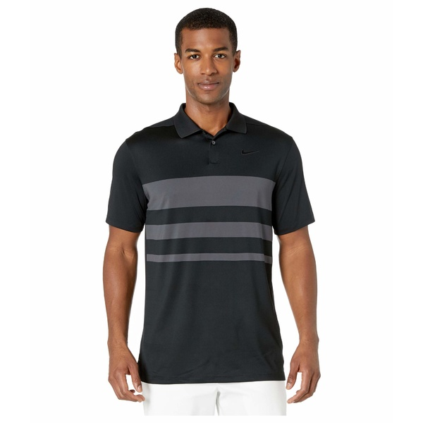 ナイキ メンズ シャツ トップス Dry Vapor Polo Stripe Black/Dark Smoke Grey/Black