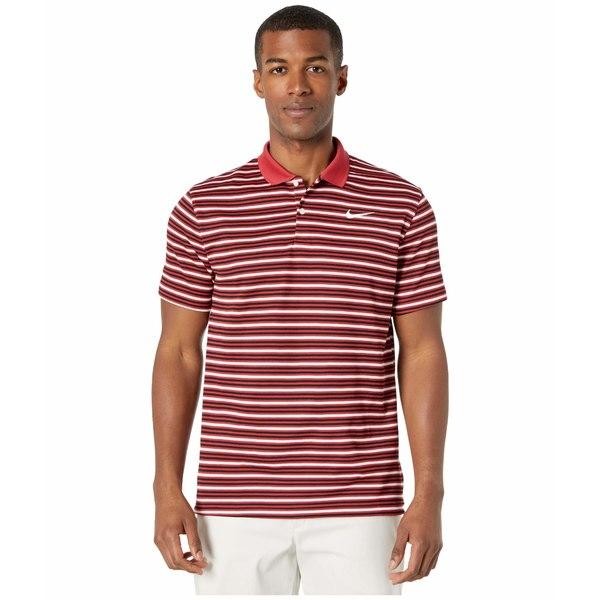 ナイキ メンズ シャツ トップス Dry Victory Polo Stripe Sierra Red/Black/White/White