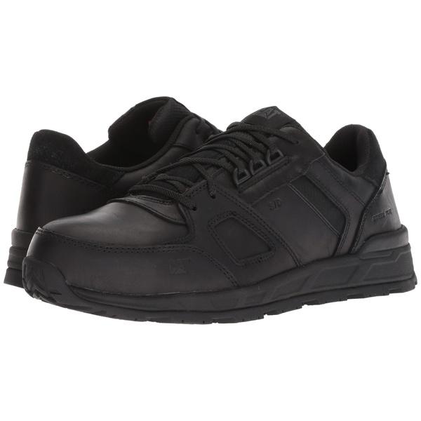 キャタピラー メンズ スニーカー シューズ Woodward Leather ESD Steel Toe Black