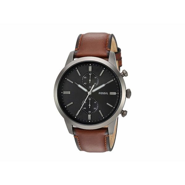 フォッシル メンズ 腕時計 アクセサリー Townsman Chronograph Watch FS5522 Smoke Amber Leather