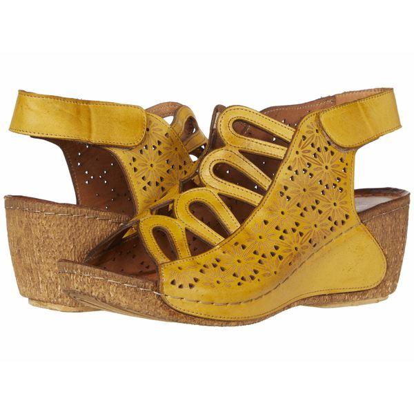 スプリングステップ レディース ヒール シューズ Inocencia Yellow
