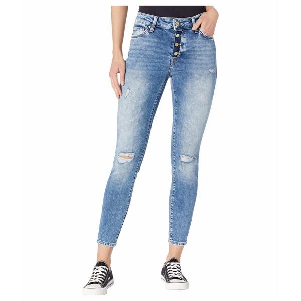 マーヴィ ジーンズ レディース デニムパンツ ボトムス Tess High-Rise Ankle Skinny in Used Ripped Vintage Used Ripped Vintage
