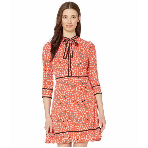 セセ レディース ワンピース トップス Long Sleeve Daisy Melody Dress with Bow Candy Apple