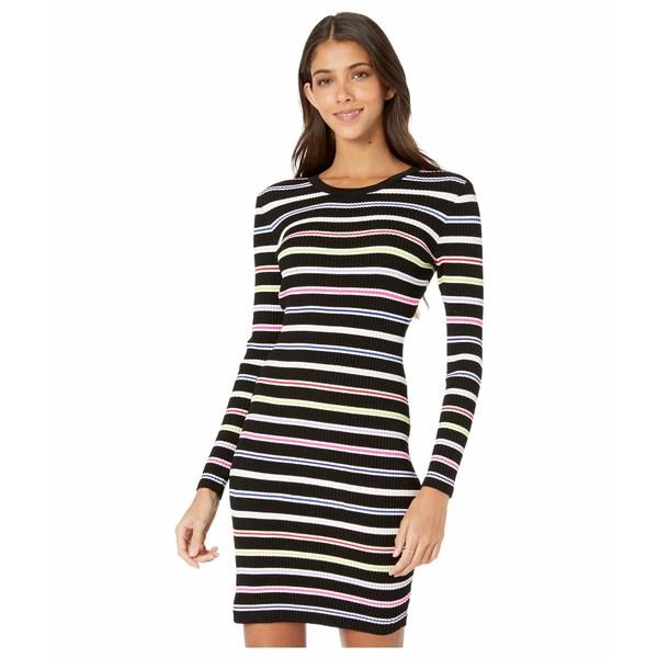 ミリー レディース ワンピース トップス Multi Stripe Long Sleeve Dress Black Multi