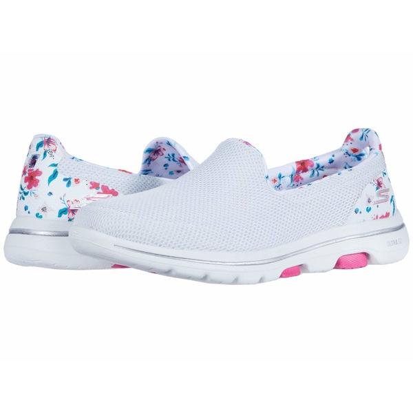 スケッチャーズ レディース スニーカー シューズ Go Walk 5 - Flowery White/Multi