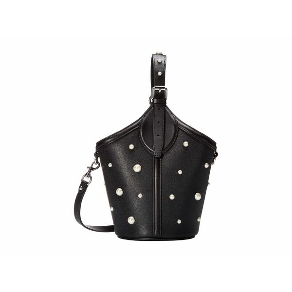 レベッカミンコフ レディース ハンドバッグ バッグ Pippa Top-Handle w/ Pearl Studs Black