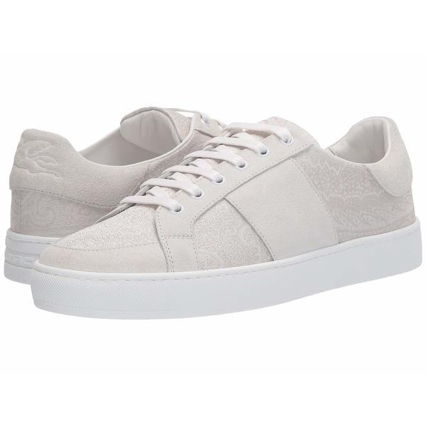 エトロ メンズ スニーカー シューズ Paisley/Suede Tennis Sneaker White